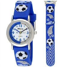 Boys Kids Watch Blue Football Time-teacher Dial. R1513.32B