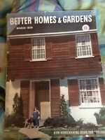 Better Homes and Gardens March 1939 Vintage Magazine - Free Shipping