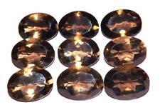 Smoky Quartz Natural Untreated 18 x 13 mm Oval Gemstone Lot 9 nos #sql1