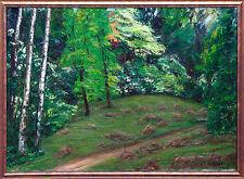 Hochsommer im Park München Öl, Richard Pietzsch 1872-1960 Ausstellung publiziert