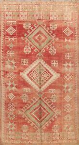 Vegetable Dye Semi Antique Authentic Moroccan Berber Handmade Wool Area Rug 6x9