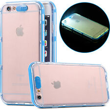 LED flashing light in the dark calling hard frame case for IPhone 6 6s 4.7 5.5