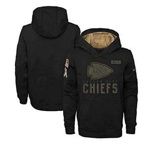 Kansas City Chiefs Nike Youth Boys 2020 Salute to Service Hoody Sweatshirt
