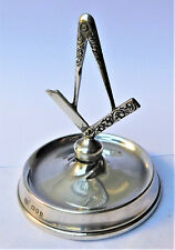 More details for no reserve hm 1926 sterling silver masonic pin dish ring tree vintage antique