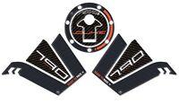 Kit 3 Stickers Gel 3D Guards Tank Compatible Motorcycle KTM 790 Duke