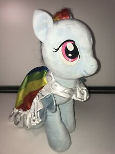 "Build A Bear BAB 16"" My Little Pony Rainbow Dash Plush With Cloak Cape Brush"
