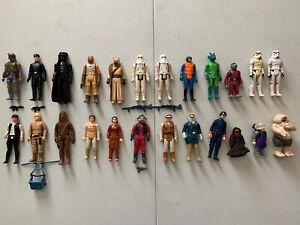Vintage 1977-83 Star Wars Action Figures Lot of 24