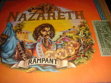 Nazareth - Rampant LP 1974 1st Press A1/B1 + Dollar Sticker Mooncrest Crest15 EX