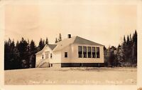 Real Photo Postcard School in Abbot Village, Maine~117908