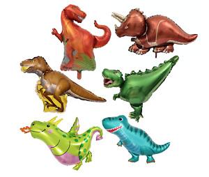 Dinosaurs T-Rex Velociraptor Triceratops Party Balloon