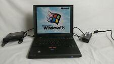 Vintage IBM Thinkpad 600X Laptop Windows 98 SE Operating system CD + Floppy 2645