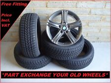 "2523 Genuine 17"" BMW 393 3 Series F30 4 Series F32 Alloy Wheels And Winter Tyres"