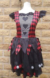Harlequin Halloween Outfit Fancy Dress 11-12 Years