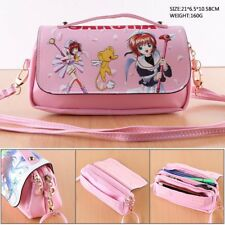 Anime Card Captor Sakura Leather Purse Handbag Clutch Messenger Bag Makeup Gift