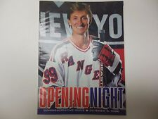 NEW YORK RANGERS NHL PROGRAM GRETZKY'S FIRST GAME AS RANGER & LINEUP CARD 1996