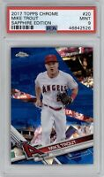 2017 Topps Chrome Sapphire Edition Mike Trout #20 Refractor PSA 9 Mint Angels