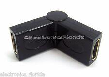 Adapter HDMI Female to HDMI Female 180º 90º Rotating Swivel e44