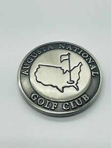 Augusta National Golf Club Masters Silver Domed Ball Marker Coin with Navy Case