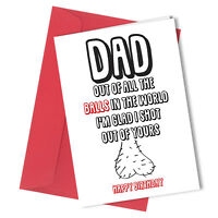 219 BIRTHDAY GREETING CARD ADULT DAD FATHER HUMOUR Funny Rude GIFT