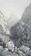 DINGY ST CLAIR HAUTE SAVOIE MONTAGNE  LITOGRAPHIE originale H.TERRY XIXéme