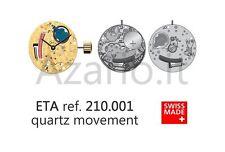 Movimento quarzo ETA 210.001 orologio no data Swiss Made Movement quartz watch