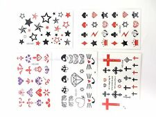 5 sheets/lot temporary hand finger tattoos wrist ankle fake tattoos for sale