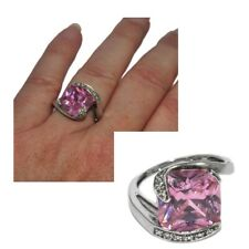 Ring Sterling Silver 925 Zirconium Pink T 52 Jewel