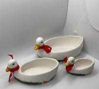 "NIB! 1970s Vintage Duck Planter Set Of 3 - No. 6033/S3 ""World Bazaar"""