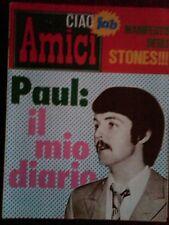 RIVISTA ,CIAO AMICI , NUMERO 25 DEL 1967 CON POSTER DEGLI STONES INCLUSO