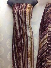 Designer Multicolour Strips Print Chiffon Fabric wedding light