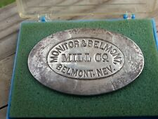 2.10 oz .999 Silver Stamped with Original Monitor & Belmont Mill Co. NV Stamp