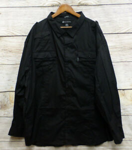 Rocawear Shirt Big Mens Size 3XB Black Classic Fit Long Sleeve Button Front New