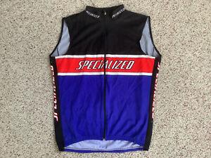 Vintage Sleeveless Specialized Cycling Bike Jersey Large