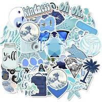 50PCS Blue Skateboard Stickers Vinyl Laptop Luggage Decals VSCO Girls Sticker JP