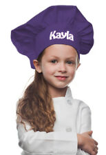 Purple Personalized Kids Chef Hat made from High Quality Cotton/Twill Fabric