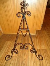 Black Iron Table Top Picture Frame Book Painting Stand Easel