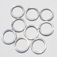 WHITE Anodized Aluminum JUMP RINGS 300 5/16 16g SAW CUT Chainmail chain mail