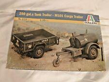 1/35 Italeri US 250 Gal Tank Trailer & Large Cargo Trailer # 229