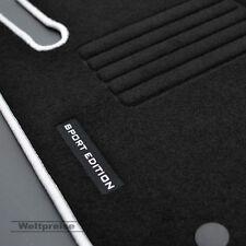 Velours Edition Fußmatten für Mercedes E Klasse W211 ab Bj.2002 - 2009 silber