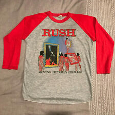 Vintage - Rush - Moving Pictures - 3/4 sleeve classic rock tee - see size note