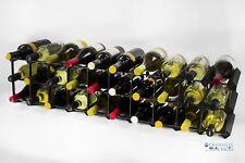 Cranville wine rack storage 20/30 bottle black stain and black metal assembled
