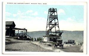 Early 1900s Wigwam and Western Summit, Mohawk Trail, MA Postcard