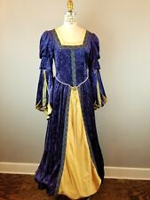 Renaissance Medieval Womens Dress Size Medium Costume Velvet Dramatic Sleeves