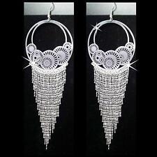 Boucles d'oreilles Bollywood Bijoux Danse orientale Belly Dance argent