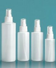 4 oz (120 ml) HDPE Plastic Bottles w/Fine Mist Sprayers (Lot of 25)