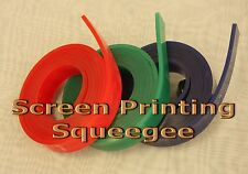 "Screen Printing Squeegee Single 50mm x 9mm x12'(144"")/Roll 70 Duro (Green Color)"