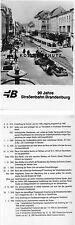 Tram BW 210 Brandeburgo strada principale 1986 AK RDT (* 2599_a)