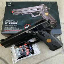 FULL SIZE SPRING AIRSOFT GUN PISTOL WITH FREE 1000 BB'S 1911 GIFT BOX