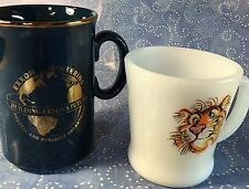 Two Exxon Engineers Tiger Coffee Mugs (Lot 2) Fire King