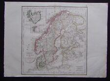 § carte Norvège Suède Danemark - Félix Delamarche 1828
